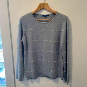 Apt. 9 Light Blue & Silver Sparkle Sweater